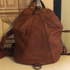 American leather company backpack
